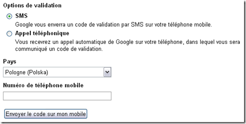 validation SMS