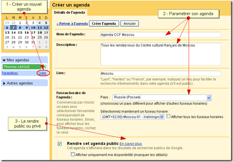 Tutoriel Google agenda 3