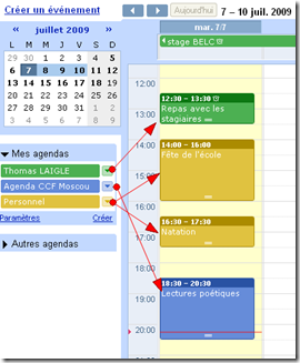 Tutoriel Google agenda 4