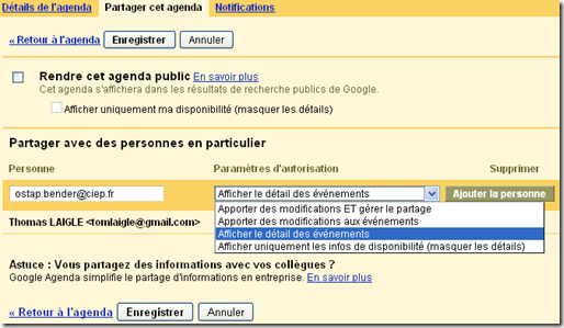 Tutoriel Google agenda 5