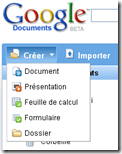 google creer document