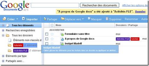 google docs dossiers