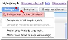 google docs  partage