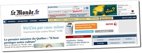 lemonde.fr avec pub